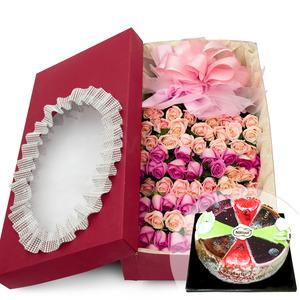 천사의 키스(100백송이) + 케익