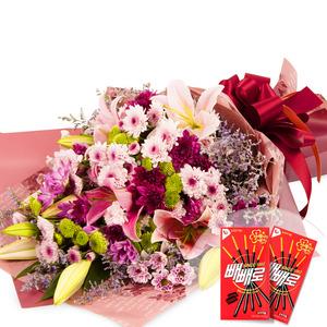 소국백합꽃다발-계절상품
