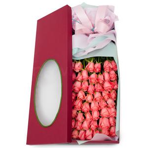 분홍장미꽃상자