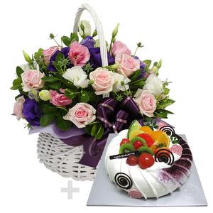 케익+꽃바구니2호