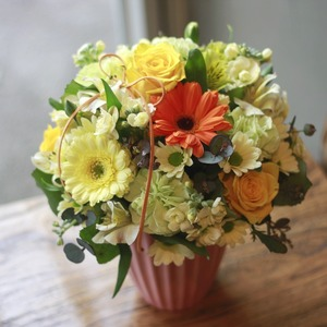 큐티꽃바구니(옐로우)