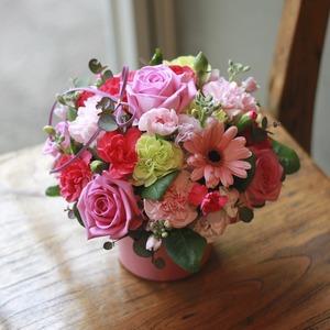 큐티꽃바구니(핑크)