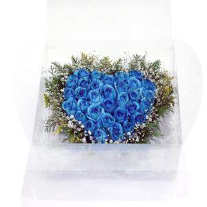파란장미하트형박스3호